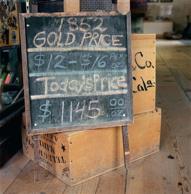 Таблица с ценами — экспонат Исторического музея в Колумбии