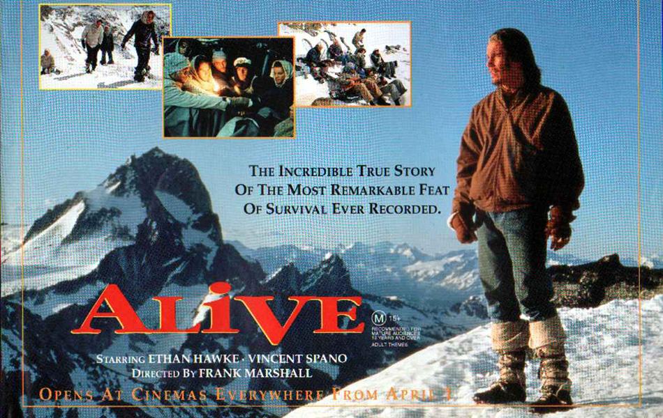 Выжить (1992) Классический фильм о выживании, рассказывающий историю уругвайской сборной по регби, всеми силами пытающейся выбраться из дикой местности после авиакатастрофы.