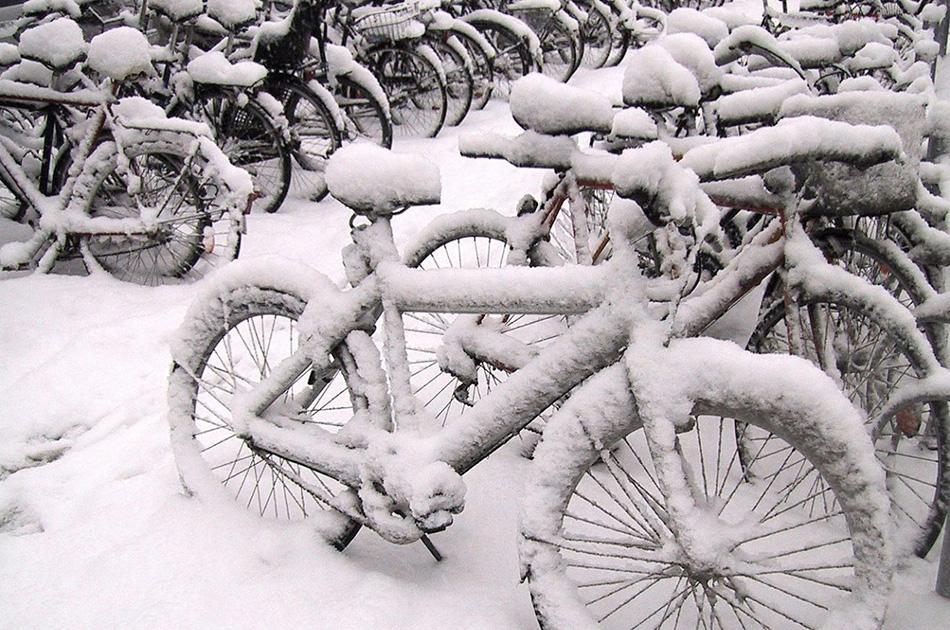 Парковка Вполне логично, что зимой вы не захотите оставлять велосипед на улице на долгое время, однако здесь все упирается в неразвитость нашей велоинфраструктуры — даже платных крытых велопарковок в нашей стране почти не встречается. Если у вас есть помещение, где можно оставить велосипед, воспользуйтесь им, в остальном же принципы парковки будут не сильно отличаться от летних.