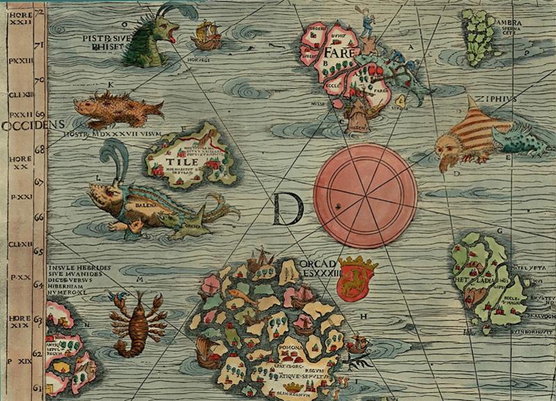 Туле Где находился: на севере Европы Остров был описан греческим путешественником Пифеем в его сочинении «Об Океане». В 6 веке он отправился из Гадесак берегам Британии, оттуда добрался до Шотландии, после чего достиг Туле. Многие ученые полагают, что за Туле он мог принятьОркнейские острова, Гренландию, Шетландские острова, Скандинавию, либо Фаррерские острова, однако ни одна из этих гипотез не была доказана. Туле можно было найти на географических картах вплоть до 17 века.