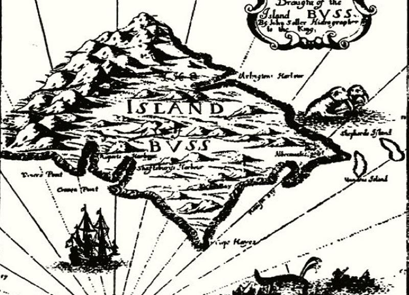 Остров Бусс Где находился: между Ирландией и островом Фрисланд Остров был открыт английским мореплавателем Мартином Фробишером во время его третьей экспедиции к берегам Северной Америки. Свое название он получил по типу судна, на котором прибыли моряки. Считается, что новая земля на самом деле была Гренландией и мнимое открытие было совершено в условиях плохой видимости. Согласно другой версии остров существовал, но затонул. Остров или его предполагаемое его местонахождение встречалось на картах 19 века.
