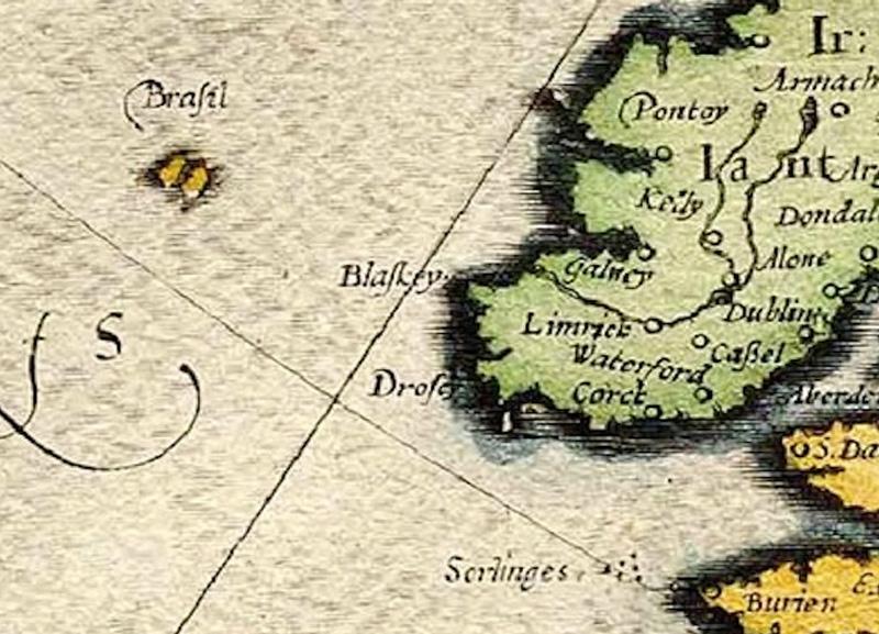 Остров Бразил Где находился: к западу от Ирландии/ район Азорских островов Остров встречается на картах, сделанных в период с 14 по 17 века. Считалось, что остров окружен туманом и дымкой, которые расступаются лишь раз в 7 лет. Из-за этой особенности точное местоположение острова было неизвестно, поэтому картографы то сдвигали остров к Азорским островам, то к западу Ирландии. В 18 веке остров исчез с карт, несмотря на то, что некоторые моряки продолжали утверждать, что они были на таинственной земле.