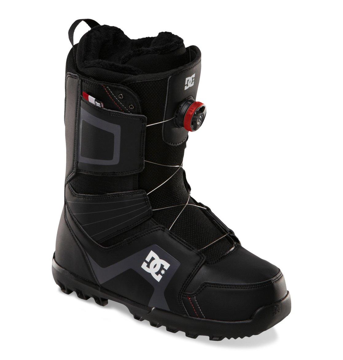 Ботинки DC Scout 13-14 Система шнуровки BOA Coiler — лучшее, что могли придумать производители сноубордических ботинок. Проблемы с креплениями просто ушли в прошлое: ты надел ботинок, совершил пару движений и уже готов к склону. Многослойная конструкция внутреннего сапога с участием специальной EVA-пены, обладающей «памятью», в сочетании с его терморегуляционной флисовой подкладкой подарит идеальную посадку сапога, комфорт и тепло. Низкопрофельная стелька дает больший контроль над доской и в то же время смягчает удары.