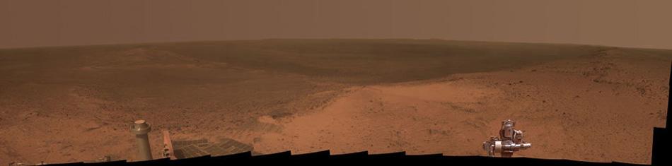 Панорама Марса, снятая с вершины Индевор.