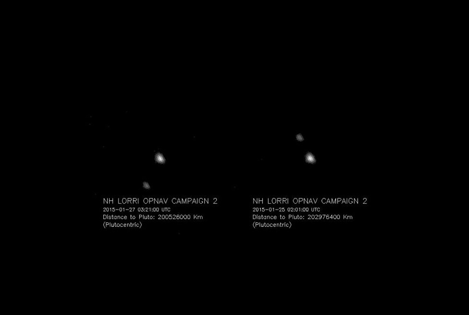Плутон и Харон. Первые снимки, полученные с зонда, направленного к некогда девятой планете для более подробного изучения этого небесного тела и его пяти известных спутников.