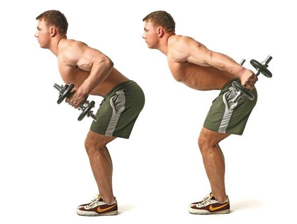 Отведение прямых рук назад и вверх Наклонитесь вперед, держа ровную спину, и слегка согните ноги. Из этого положения отводите прямые руки назад, направляя их как можно ближе к корпусу. Постойте так несколько мгновений, не расслабляя мышцы спины, затем вернитесь в исходное положение.