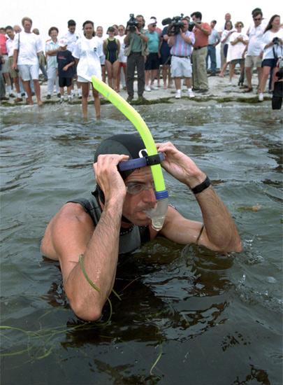 За 3 месяца Бену предстояло преодолеть 5955 км. Стартовал пловец в американском порту города Гианнис. Конечной точкой маршрута должен был стать город Брест, расположенный на западе Франции. Днем Бен плыл в течение 6-8 часов, а ночью спал в сопровождающей его лодке.