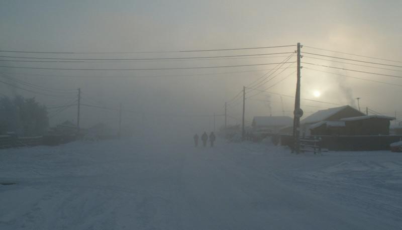 Верхоянск, Россия      Это самый холодный город в мире. Среднегодовая температура составляет −18,6 °C. По данным на 2014 год в Верхоянске проживало 1173 человека.