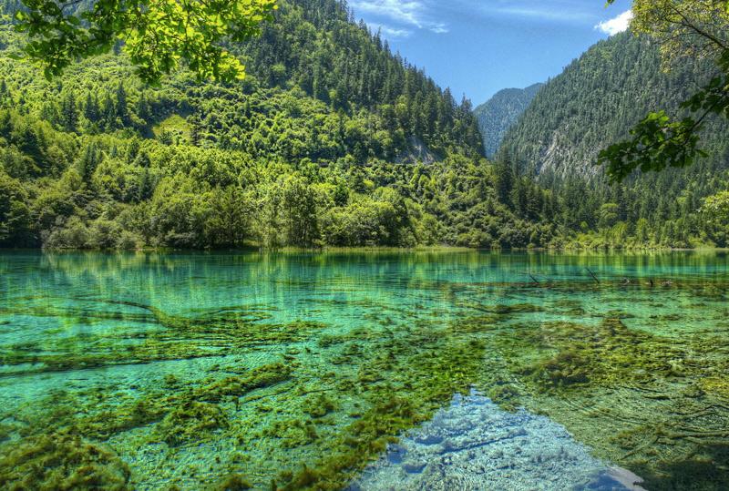 Цзючжайгоу, Китай Естественный заповедник на севере провинции Сычуань состоит из трех долин. Место получило широкую известность благодаря каскадным водопадам, живописным озерами и обитающим здесь редким представителям флоры и фауны. Вода во многих озерах настолько чистая, что при погружении в нее можно видеть на 40 метров. Парк изолирован от внешнего мира: поездка до него на авто займет около 10 часов по горным дорогам.