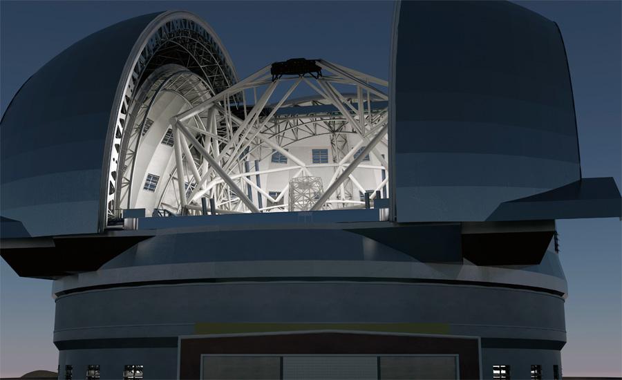 Европейский чрезвычайно большой телескоп Серро-Армазонес, Чили Название — вовсе не плод воспаленного мышления гигантоманов. Этот телескоп и в самом деле обладает невероятными размерами: только диаметр его линзы составляет 39,9 метра. Конструкция начнет функционировать в конце лета этого года, пока же на месте стройки идут подготовительные работы.