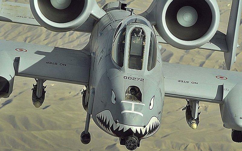 A-10 Thunderbolt Несмотря на свое прозвище warthog (бородавочник), данное за свой необычный внешний вид, штурмовик А-10 успешно доказал свою эффективность в ходе войны в Персидском заливе.