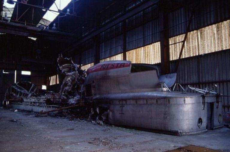 Не все удалось спасти Ассоциация имени Жана Бертена перевезла уменьшенный прототип его реактивного поезда в безопасное место в 1991 году. К сожалению, остальные экземпляры были сильно повреждены случившимся чуть ранее пожаром. Когда Министерству транспорта было предложено восстановить эти прототипы, в ангаре, где они находились, произошел еще один пожар. Не поддающиеся восстановлению останки были списаны, а ангар снесен.