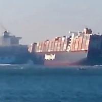 Эпическое столкновение двух огромных контейнеровозов. Египетские капитаны затмили Голливуд масштабом