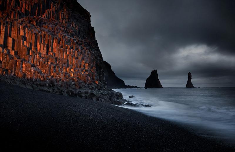 Самюэль Ферон. Вторая премия в номинации «Свет на Земле». Ледники и вулканы Исландии.