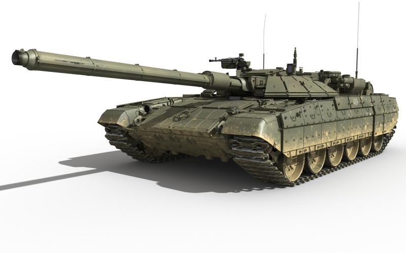 Пулемет Спаренный 7,62 мм пулемет расположен снаружи башни и соединен параллелограммным приводом с орудием. Дополнительно установлен стабилизированный высокоточный 12,7 мм пулемет «Корд». Установка монтируется синхронно с командирской панорамой и отслеживает стабилизацию ее зеркала. Угол возвышения ствола доходит до 90 градусов, а в горизонтальной плоскости обеспечивает вращение до 360 градусов.