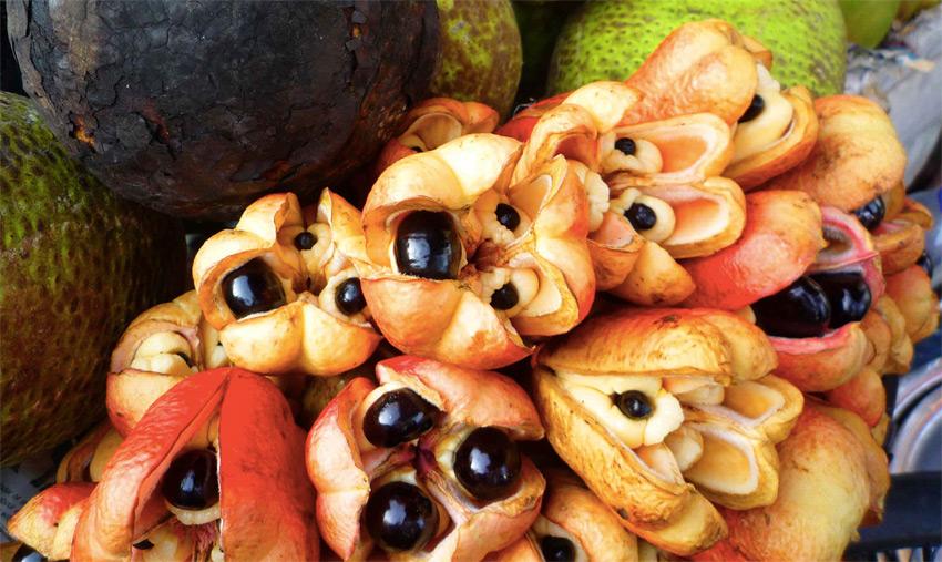 Аки Ямайский национальный фрукт требует особого подхода. В незрелых плодах содержится яд гипоглицин, который жители Западной Африки приноровились использовать для ловли рыбы. Мякоть поспевшего плода съедобна. Она имеет кремовую текстуру и обладает ореховым вкусом. Наибольшее распространение фрукт получил на Ямайке, где его готовят на завтрак и делают из фрукта гарниры.