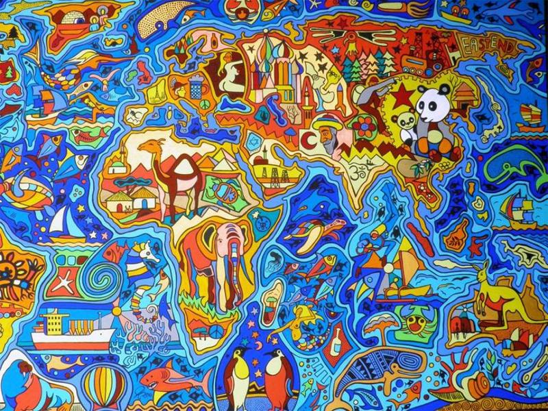 Разноцветные континенты