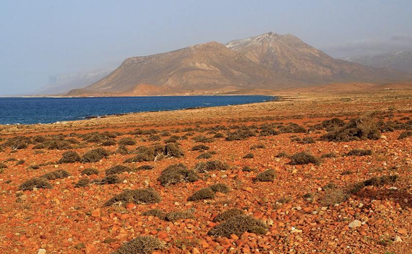 Для главного острова характерны три типа рельефа: узкие прибрежные равнины, известняковое плато, пронизанное карстовыми пещерами, и горы Хагьер, максимальная высота которых составляет 1525 метров.