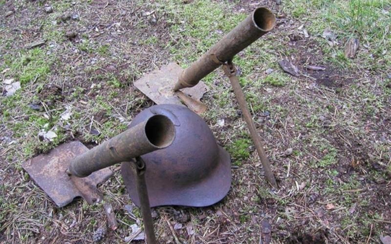 Дальность стрельбы 250 м. вес 1,5 кг. вес мины 500 г.