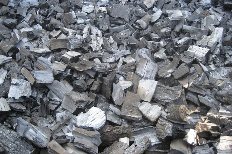 Слой древесного угля Уголь является естественным абсорбентом, т.е. он будет поглощать содержащиеся в воде примеси, в частности хлор и соли металлов. Понадобится слой в несколько сантиметров. Уголь должен быть из дерева твердых пород. Его можно купить или сделать самому, прокалив куски древесины в металлической емкости.