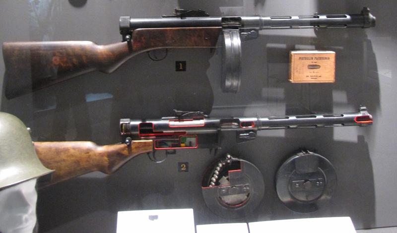 Характеристики  Калибр: 9x19mm Luger/ParaВес: 7кг со снаряженным 71-патронным дискомДлина: 870 ммТемп стрельбы: 900 выстрелов/минутaЕмкость магазина: 20, 36, 40, 50 или 71 патронЭффективная дальность: 200 метров