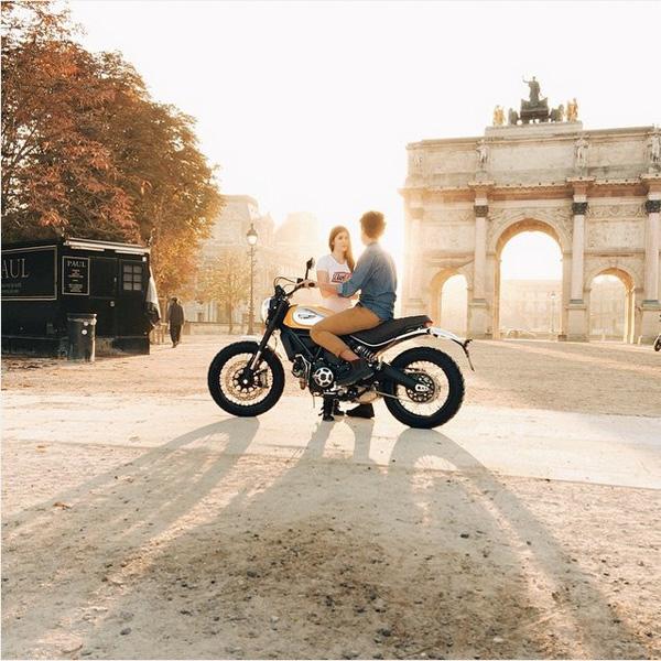 Совместная работа Руса с Ducati.