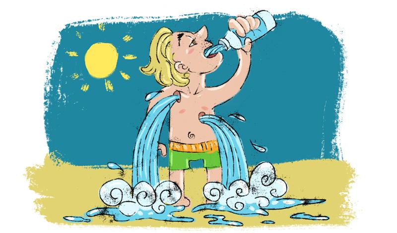 Два литра в день Это самое известное и одно из самых смешных правил, которым следуют очень большое количество людей. Началось все со статьи, которую позволил себе опубликовать в журнале Американского физиологического общества профессор Хайнц Вэлтин, не утруждая себя поисками каких-бы то ни было доказательств. На самом же деле, нет никаких точных данных о том, сколько именно воды нужно выпивать вам ежедневно. Это зависит от многих факторов: вес тела, температура на улице, повседневная деятельность и, самое важное — рацион, из которого организм черпает до 40% нормы воды. Итак, сколько же воды вам нужно пить? Доверьтесь своему телу. Испытываете жажду — пейте.
