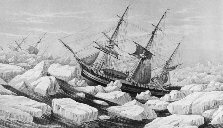 Эребус и Террор Год события: 1845Место: АрктикаВыжившие: 0 человек из 320 Эти названия принадлежали двум кораблям арктической экспедиции, которые попали в ледяную ловушку. Последний раз информация о судах Ее Величество поступила в 1845 году. И только в прошлом году были найдены останки «Террора». Немногим дальше от места последней стоянки судна, исследователи обнаружили несколько захоронений: тела находившихся там были изуродованы следами человеческих зубов.
