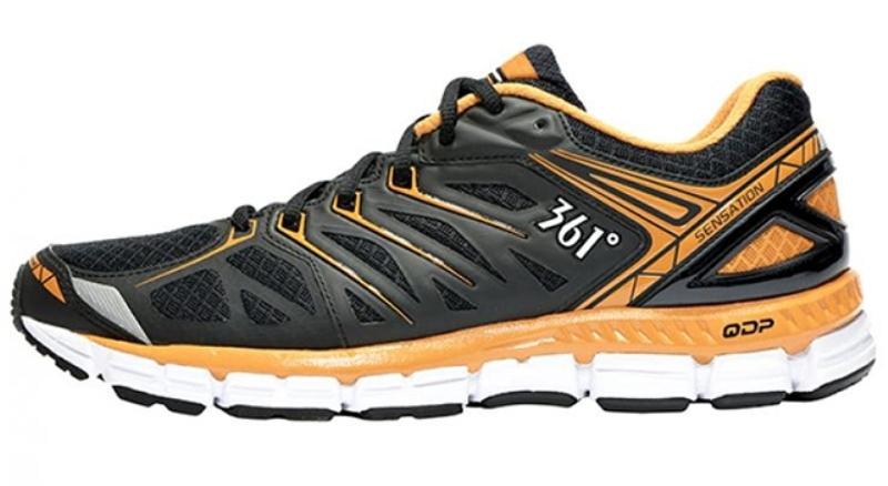 361° Sensation Ориентировочная цена: 120$  Sensation китайской компании 361° —это кроссовки для длительных тренировок. Они входят в категорию умеренно-амортизированных моделей, устойчивых и отзывчивых. Фирма-производитель гарантирует высокое качество по доступной цене.