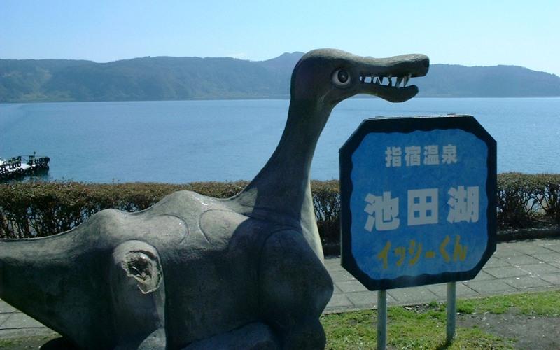 Исси Легенда о Исси–японском монстре из озера Икеда – это предание о белой кобылице, некогда жившей со своим жеребенком на берегу озера. Но жеребенок был похищен самураем, и с горя кобылица бросилась в озеро, превратившись в ящероподобного монстра. Исси видели несколько раз, в основном в 1991 году. Тогда японцы сообщали о странном существе с торчащими из воды черными горбами, длиною до 5 метров каждый.