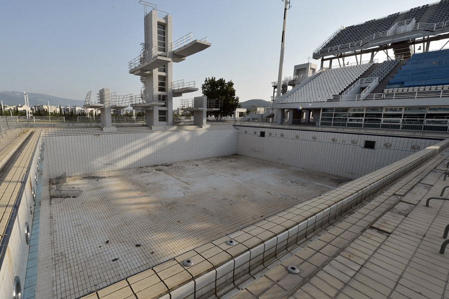 Бассейн для прыжков в воду.