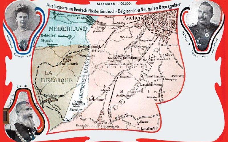 Нейтральный Мореснет Годы существования: с 1816 по 1920 гг.  После падения империи, созданной Наполеоном, Европе пришлось пересмотреть свои границы. Этот небольшой участок земли площадью около 3,5 км², расположенный между современными Германией и Бельгией, остался ничейным при перерисовке границ. Получившаяся нейтральная зона совместно управлялась Нидерландами и Пруссией. Государство, жители которого считались лицами без гражданства, но которое имело свой флаг и герб, просуществовало вплоть до 1920 года. Тогда после Первой мировой войны по Версальскому договору Мореснет отошел к Бельгии.