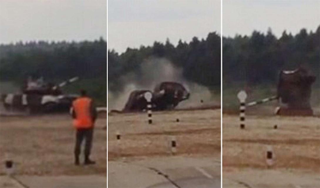 Во время отработки дрифтинга произошла авария: кувейтская команда не справилась с управлением тяжелого T-72B3. Танк кубарем выкатился за пределы трассы но, по счастью, никто не пострадал.