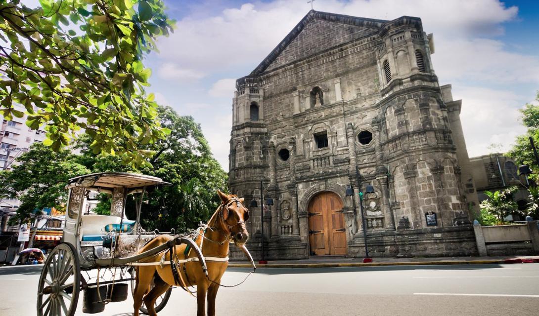 Идеальный пример испанской архитектуры Манилы: церковь Малат была построена в стиле барокко и является одной из самых старых религиозных построек на Филиппинах.
