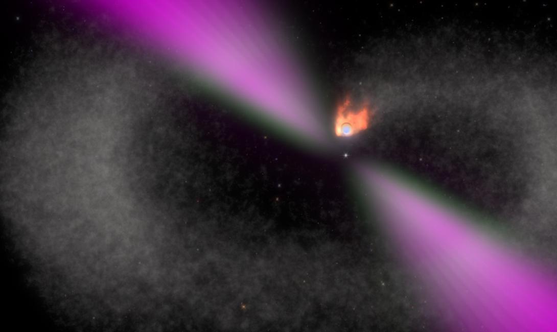 Пульсар Черная Вдова Нейтронная звезда остается от взрыва массивной звезды и зовется пульсаром. Черная Вдова пульсар миллисекундный, излучающий, к тому же, гамма-лучи. Он буквально пожирает вращающуюся вместе с ним небольшую планету.
