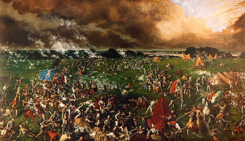 Потеря Техаса Причина: послеполуденный сон Мексиканский генерал Санта Анна разбил превосходящие силы Конфедерации в битве при Аламо — и тем самым захватил весь Техас. Но расслабляться мексиканцам не следовало: через несколько месяцев, завидев впереди авангард противника и решив, что атаки сегодня не будет, Санта Анна приказал солдатам располагаться ко сну. Естественно, удивленные техасцы не стали ждать, пока мексиканская армия отдохнет, а взяли и подло напали на спящих. Результатом стал ужасный разгром и потеря мексиканской стороной целого Техаса.