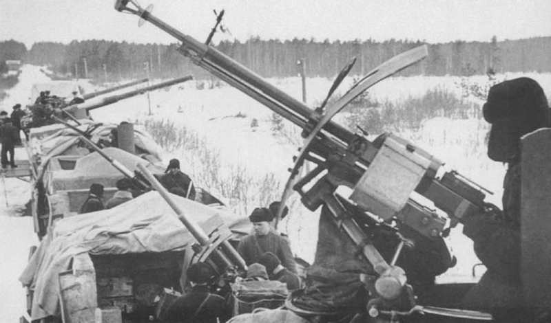 Многие составы комплектовались орудиями противовоздушной обороны.