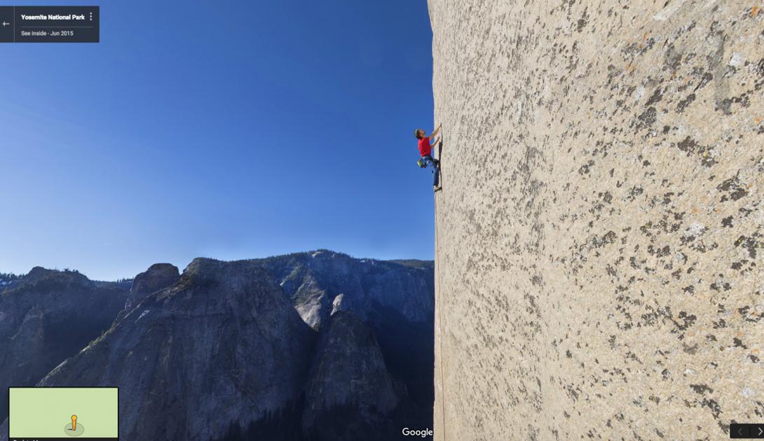 Специалисты Google Street View забираются в самые сложные места: даже горы Сьерра-Невада, расположенные в национальном парке Йосемити, Калифорния, не остались незамеченными.