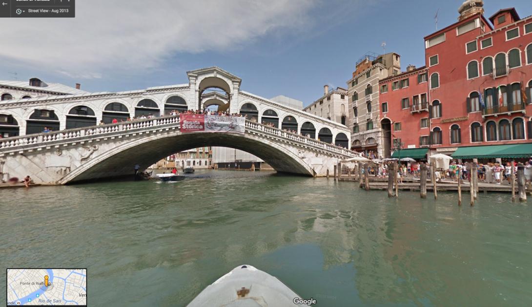 Google Street View позволяют даже прокатиться по венецианским каналам, увидеть Дворец Дожей и почувствовать себя, хоть на минуту, Italiano vero.
