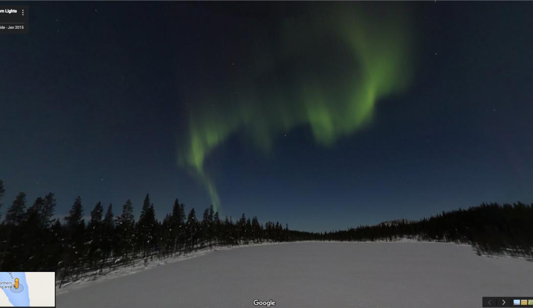 Северное сияние над озером Питкяярви, Финляндия. На многие километры отсюда не встретить ни одного человека.