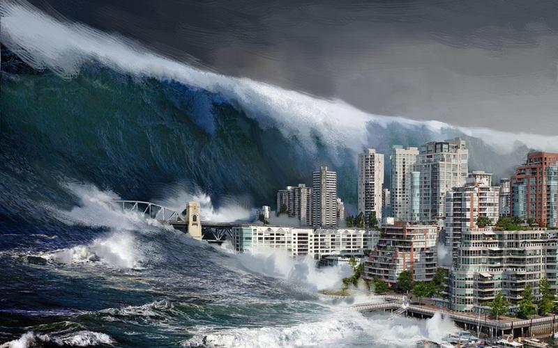 Большой каскад На дне Тихого океана между западным побережьем и островом Ванкувер находится зона субдикции – место, где океаническое дно сдвигается по направлению к североамериканскому континенту. Скорость его движения на данный момент составляет только 40 мм в год, но верхняя часть зоны остановилась, а это значит, что североамериканская плита сжимается. Когда-нибудь давление превысит пороговое значение, и это обернется землетрясением мощностью до 9 баллов. Это приведет к оседанию прибрежной зоны и ее горизонтальному смещению. Вскоре после этого на прибрежные районы обрушится мощное цунами, по сравнению с которым цунами в Японии 2011 года покажется легким волнением в штиль. Насколько реален такой сценарий? Ученые подсчитали, что за последние 10000 лет на регион обрушивались 41 крупное землетрясение, происходившие с интервалом в среднем раз в 244 года. Последнее, магнитудой 9 баллов, случилось 315 лет назад.