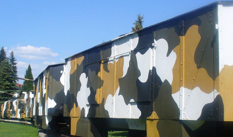 Реплика словацкого бронепоезда, выставленного в поле недалеко от города Зволен, Словакия.