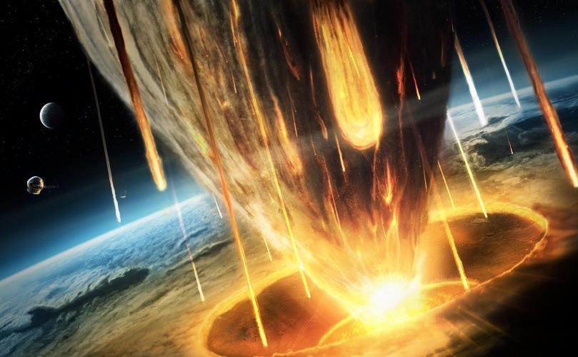 Столкновение с большим космическим объектом В теории все просто: найти громадный астероид или планету, разогнать до головокружительной скорости и направить на Землю. Если удар будет достаточно сильным и точным, Земля и ударивший ее объект распадутся на куски, преодолевшие взаимное притяжение, и поэтому они никогда не смогут снова собраться в планету. Идеальным объектом для смертоносного эксперимента станет Венера, ближайшая планета к Земля, которая весит 81% от земной массы.