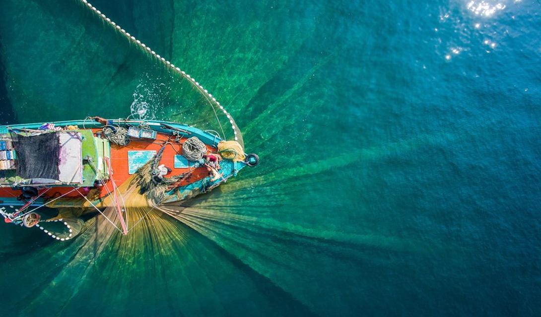 Рыбаки за работой Теренггану, Малайзия