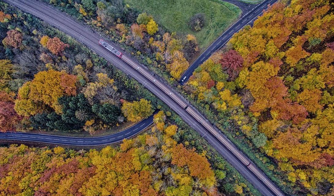 Осенний пейзаж Бергвинкель, Германия
