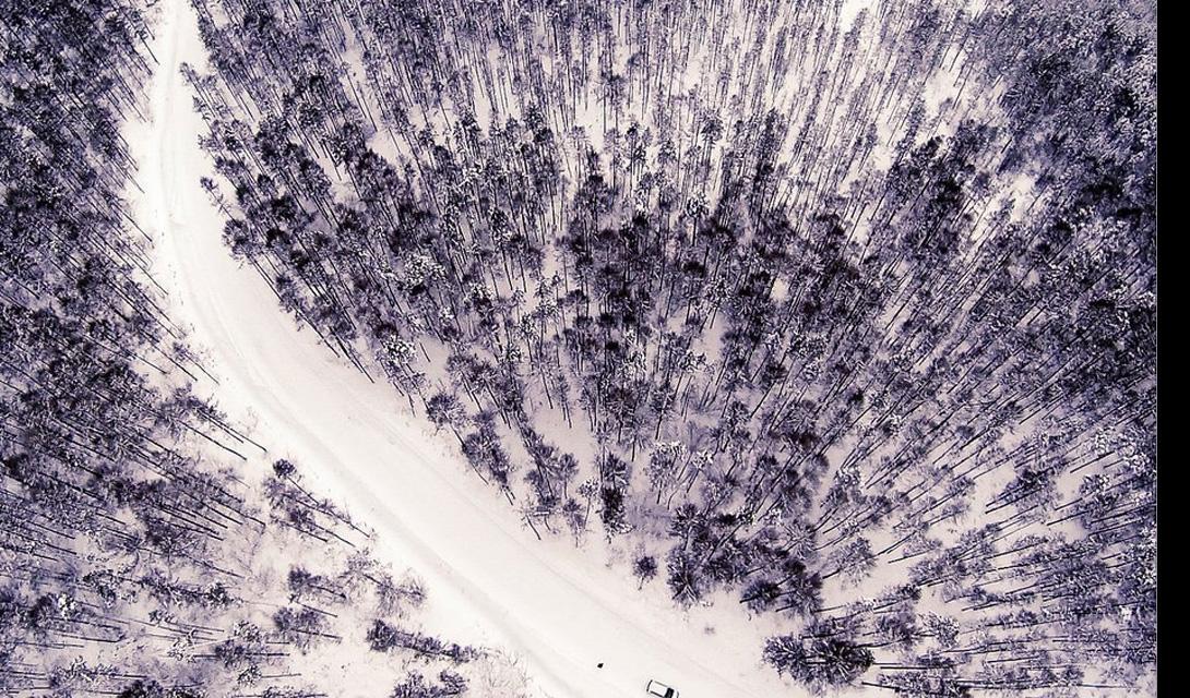 Замороженные лес Нерюнгри, Россия