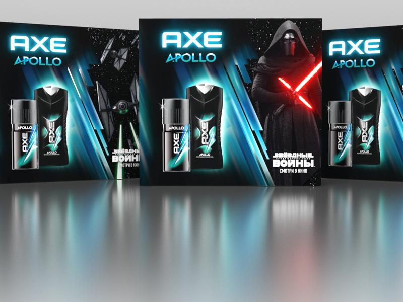 Подарочный набор AXE Star Wars Мечтать о космосе можно и в собственной ванной — для таких AXE выпустил лимитированную коллекцию подарочных наборов Star Wars. Каждая упаковка выполнена в одном из трех вариантов и украшена изображениями приверженца Темной стороны Силы, загадочного Кайло Рена,штурмовика нового поколения и неотделимых от космического антуража звездолетов.