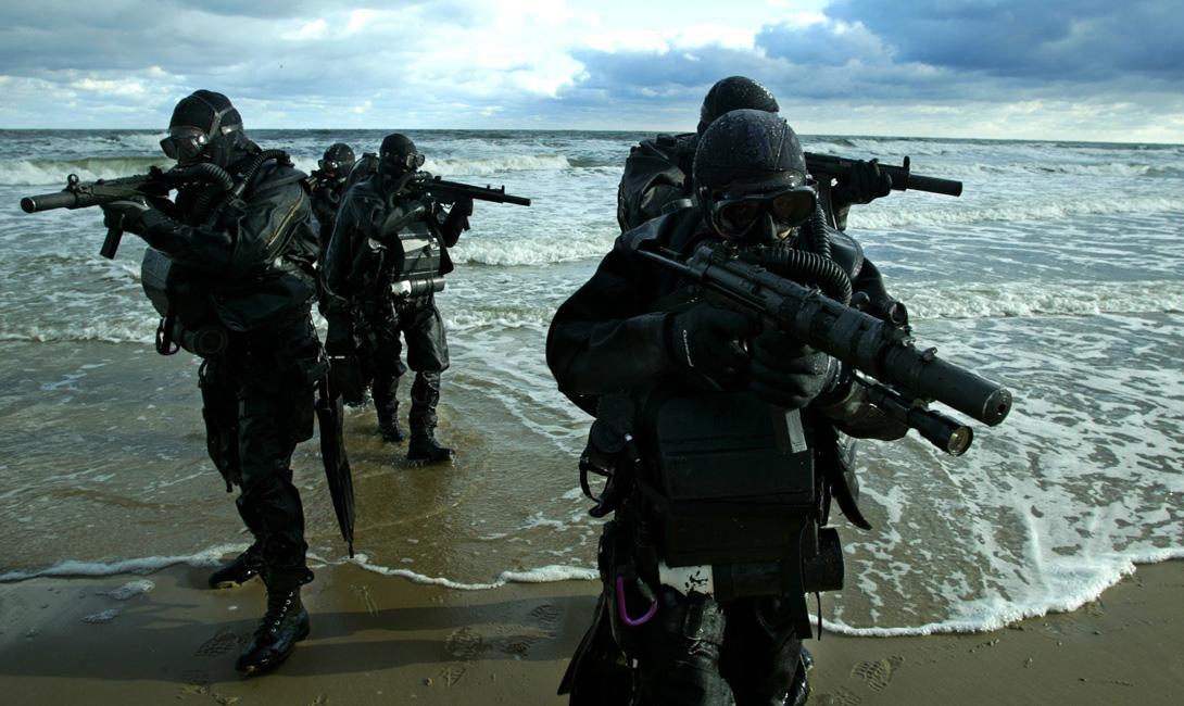 Морские котики США Америка поддерживает существование целого ряда спецподразделений, на все случаи жизни. Зеленые береты, USASF, Дельта — уровень их подготовки очень высок, что было не раз подтверждено в реальной боевой обстановке. Сложнее всего новобранцу будет попасть в «Морские котики». Эти ребята специализируются на борьбе с терроризмом, причем в глобальном масштабе. Нет, конечно, каждый из «котиков» способен отстреливать противника точечно, как микроскоп способен забивать гвозди. Прямое же назначение этих элитных воинов — сеять смуту в тылу врага и подготавливать партизанские отряды. Тренировки длятся почти полтора года, а проходят они в самой настоящей искусственной стране, созданной правительством США в Северной Каролине. Жители республики Пинленд (сменяющие друг друга бойцы регулярной армии) не просто имитируют повседневную деятельность — они действительно вынуждены жить в постоянно функционирующем тренажере революции.