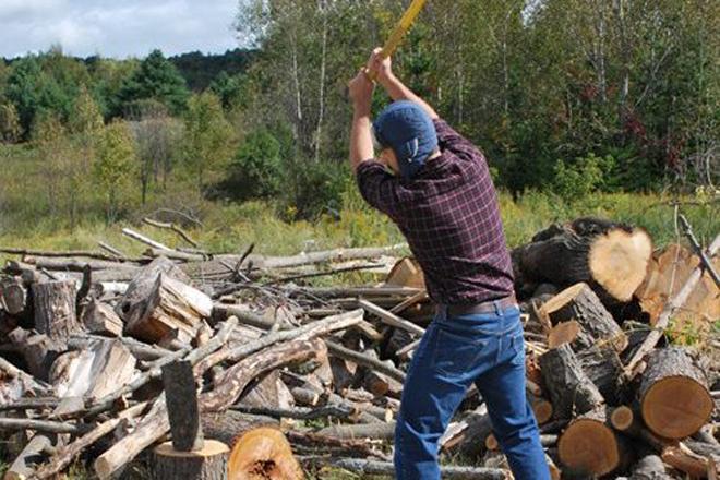 Колем дрова И, наконец, приступаем к основным обязанностям дровосека — рубке дров. По сути, вы будете выполнять те же самые движения, что и тренирующиеся с покрышкой боксеры. Разница только в том, что они используют кувалду — в вашей же руке надежно зажат топор. Размахиваясь, старайтесь использовать всю силу плеча и предплечий, чтобы удар получился на славу. Меняйте руки и следите за ногами — остаться без одной из них в наши планы не входит.