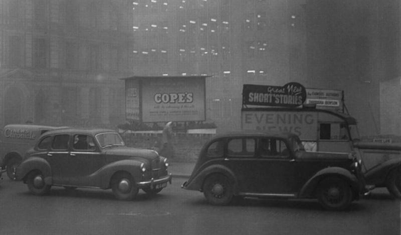 Смог-1962 Ровно через 10 лет после того, как первый большой смог опустошил город, трагедия повторилась. По счастью, Лондон был готов встретить опасность с закрытым забралом: жителей эвакуировали и ворота города закрыли. Заболели всего 90 человек.